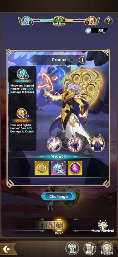 mythic heroes chronus pantheon
