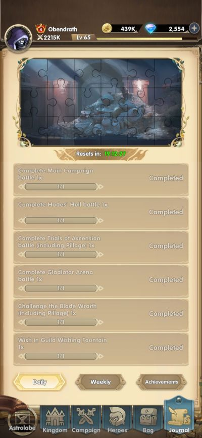 mythic heroes quests
