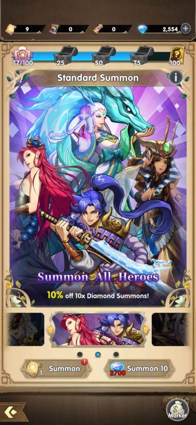 mythic heroes summon