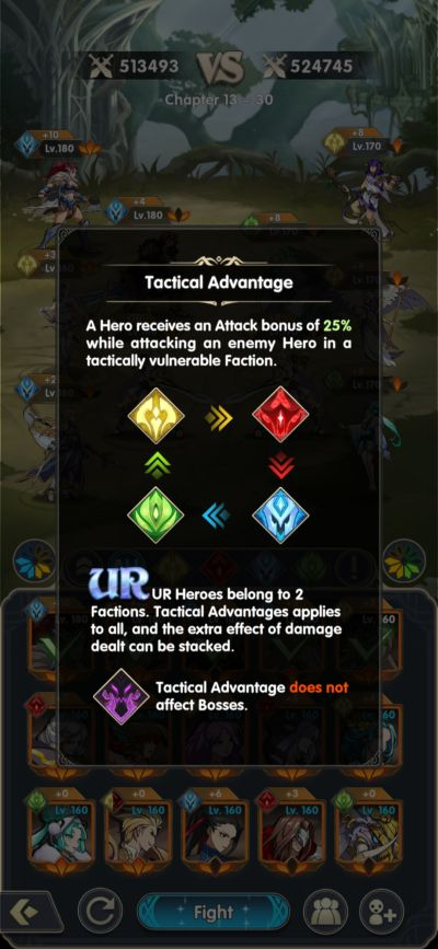 mythic heroes tactical advantage