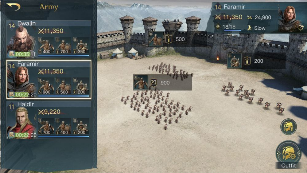 the lord of the rings rise to war army screen