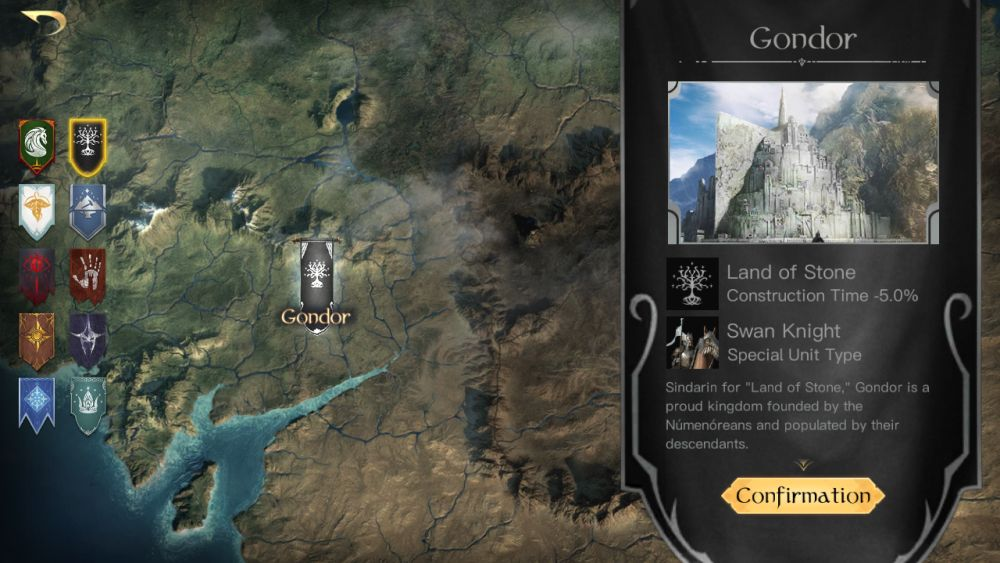 the lord of the rings rise to war gondor