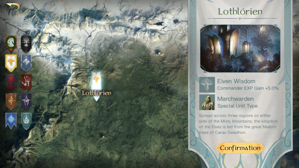 the lord of the rings rise to war lothlorien