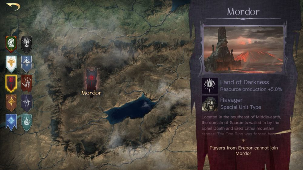 the lord of the rings rise to war mordor