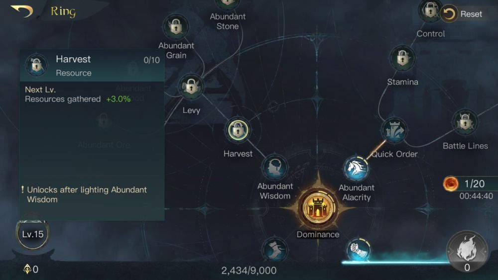 the lord of the rings rise to war ring harvest
