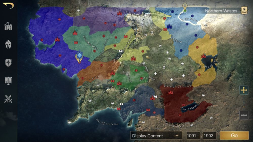 the lord of the rings rise to war world map